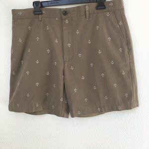 Essentials Men's Flat Front Anchor Shorts NWOT 36